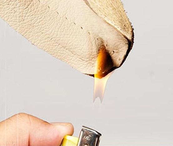 thử lửa đốt ví da nam